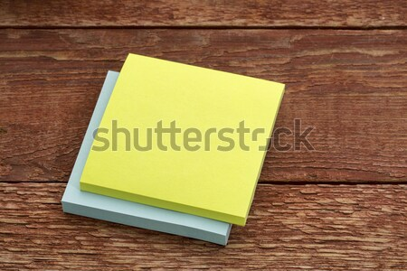 blank sticky note against wood Stock photo © PixelsAway