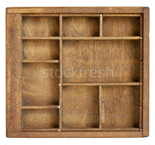 small wood box with dividers Stock photo © PixelsAway