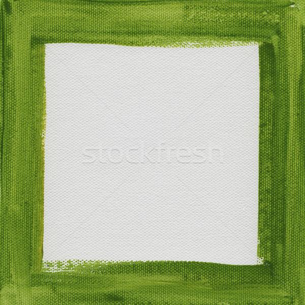 Groene frame witte doek hand geschilderd Stockfoto © PixelsAway