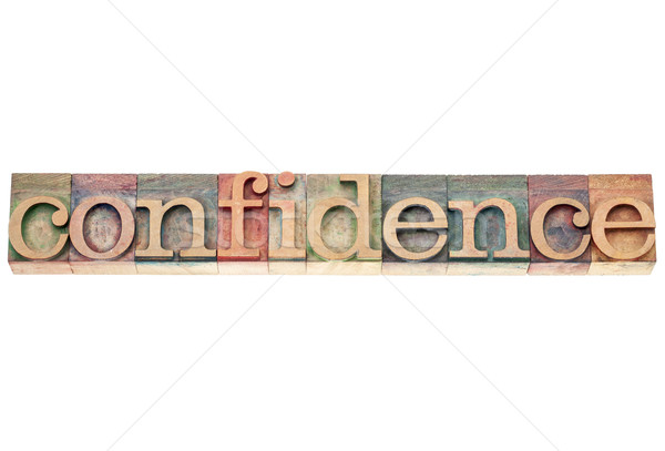 confidence word in wood type Stock photo © PixelsAway