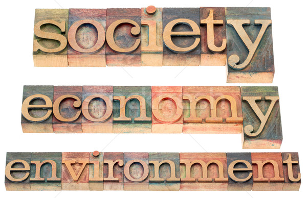 society, economy, environment Stock photo © PixelsAway