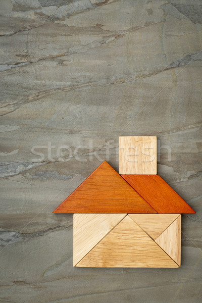 abstract tangram house Stock photo © PixelsAway
