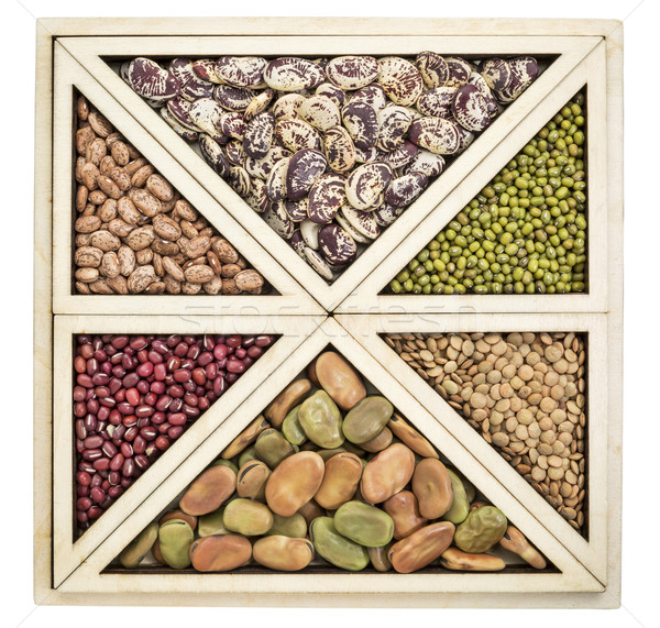 Stock photo: beans and lentils abstract