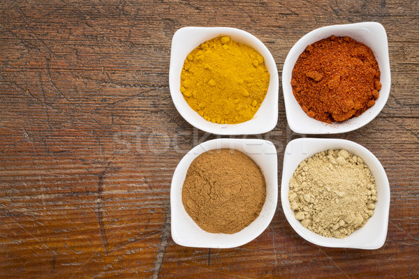 turmeric, ginger, cinnamon and paprika Stock photo © PixelsAway