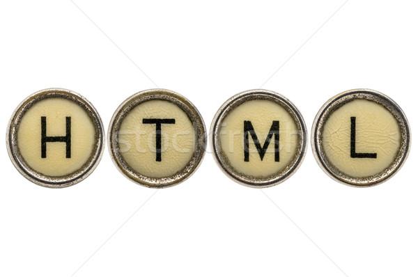 Html текста язык акроним машинку ключами Сток-фото © PixelsAway
