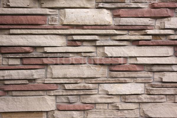 Homokkő fal dekoratív épület külső textúra Stock fotó © PixelsAway