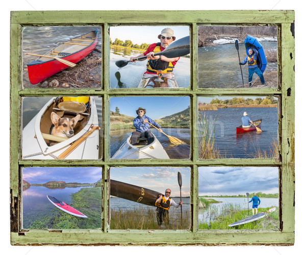 paddling vacation concept Stock photo © PixelsAway
