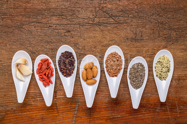 superfood grain, seed, berry and nuts abstract Stock photo © PixelsAway