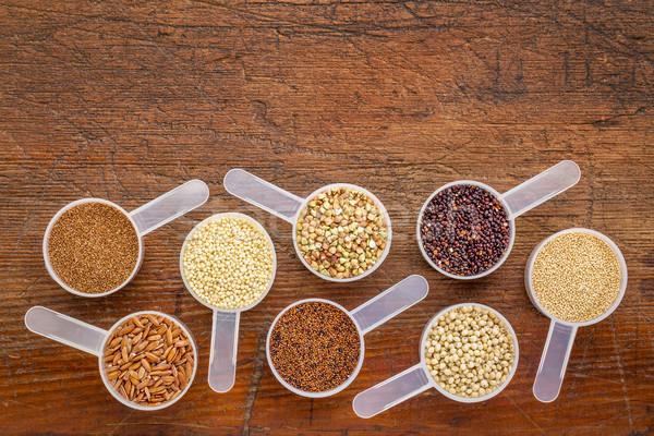 Glutensiz ahşap kahverengi pirinç Stok fotoğraf © PixelsAway