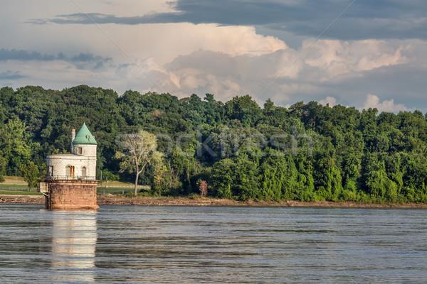 Su kule Mississipi nehir numara Stok fotoğraf © PixelsAway