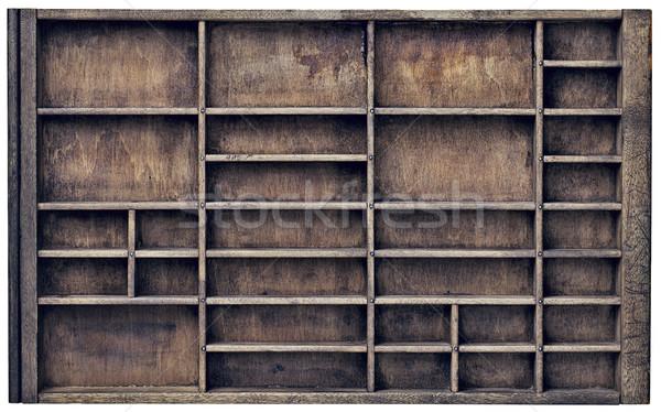 vintage typesette orr printer drawer Stock photo © PixelsAway
