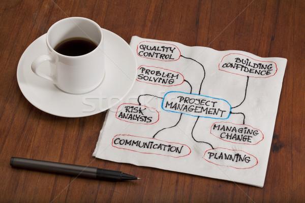project management concept - napkin doodle Stock photo © PixelsAway