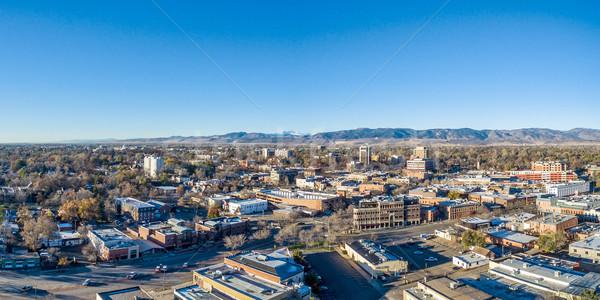 форт Cityscape Панорама центра антенна осень Сток-фото © PixelsAway