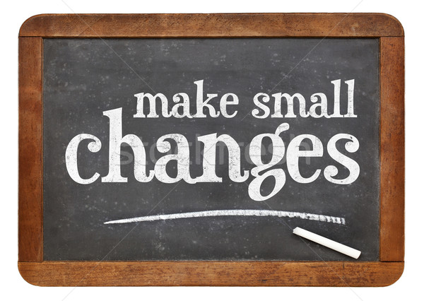 Make small changes advice Stock photo © PixelsAway