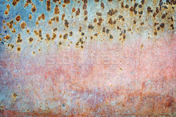 グランジ 描いた 金属の質感 ピンク 青 ストックフォト © PixelsAway