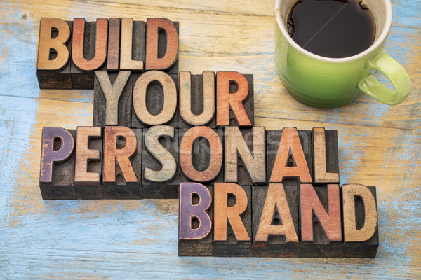 Construire personnelles marque vintage Photo stock © PixelsAway
