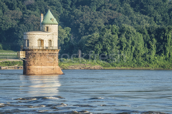 Water intake tower on Mississippi River Stock photo © PixelsAway
