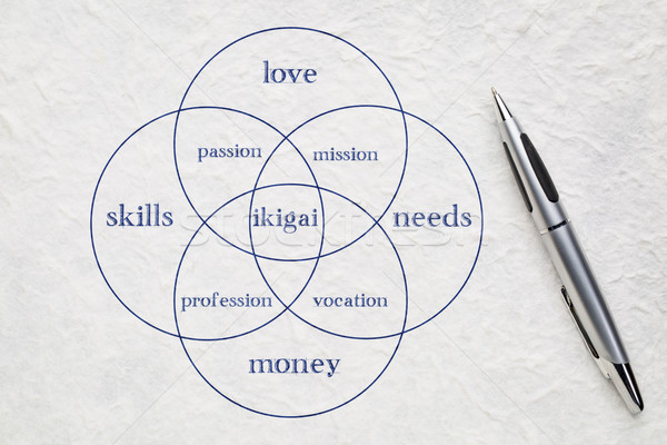 ikigai concept - a reason for being Stock photo © PixelsAway