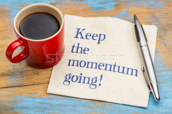 Keep the momentum going! Stock photo © PixelsAway