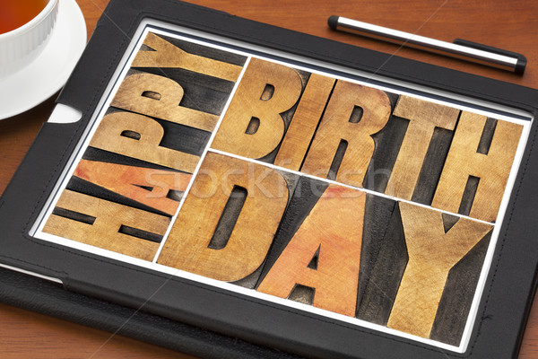Happy birthday greeting card Stock photo © PixelsAway