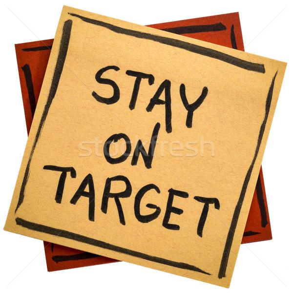 Tartózkodás cél emlékeztető jegyzet kézírás fekete Stock fotó © PixelsAway
