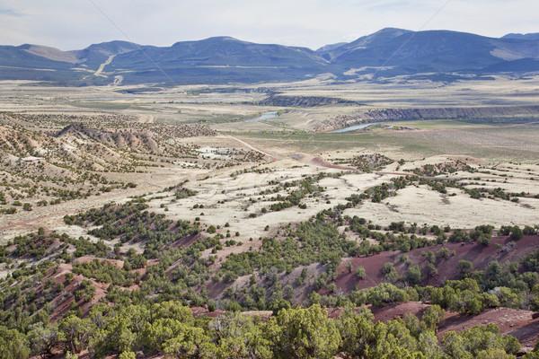 Vadi yeşil nehir Utah geniş park Stok fotoğraf © PixelsAway