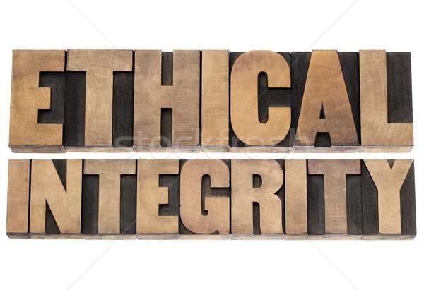 Etikus izolált szöveg magasnyomás fa Stock fotó © PixelsAway