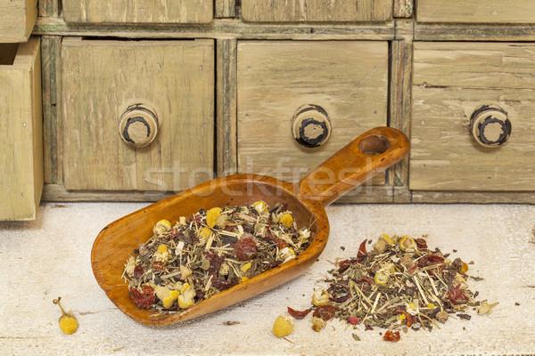 organic herbal tea with chamomile Stock photo © PixelsAway
