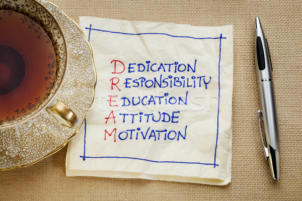 dedication, responsibility, education Stock photo © PixelsAway
