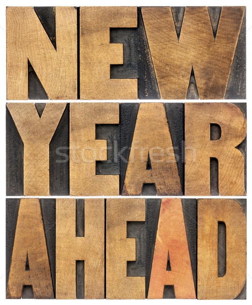 new year ahead in wood type Stock photo © PixelsAway