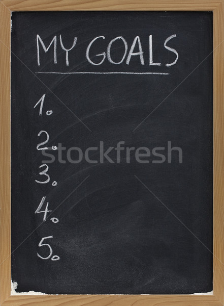 my goals list on blackboard Stock photo © PixelsAway