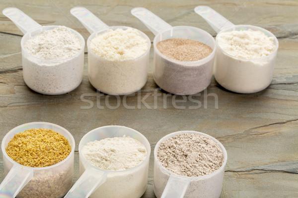 Glutenvrij meel amandel kokosnoot lijnzaad Stockfoto © PixelsAway