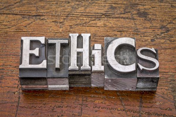 ethics word in metal type Stock photo © PixelsAway