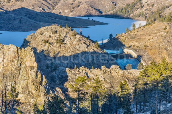 Seaman Reservoir in Rocky Mountains Stock photo © PixelsAway