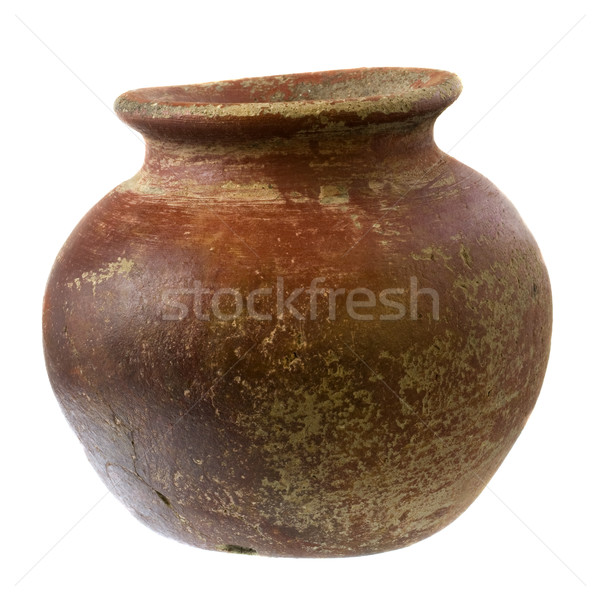 small, rough, clay plant pot Stock photo © PixelsAway