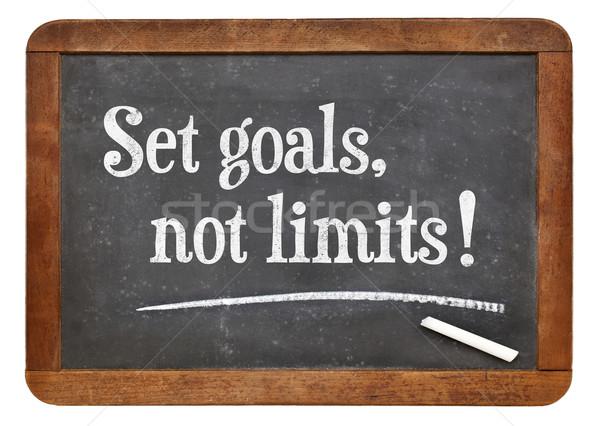 Set goals, no limits Stock photo © PixelsAway