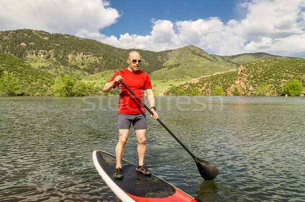 stand up paddling (SUP) in Colorado Stock photo © PixelsAway