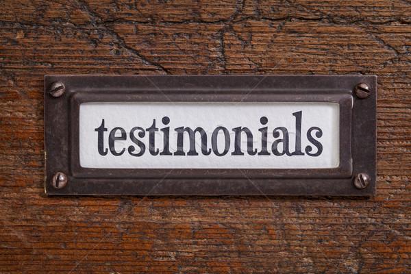 testimonials - file cabinet label Stock photo © PixelsAway