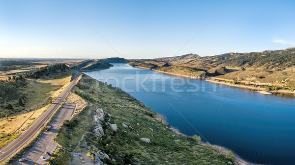Reservoir antenne panorama zuidelijk fort Colorado Stockfoto © PixelsAway