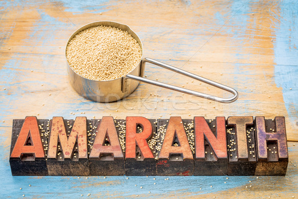 gluten free amaranth grain Stock photo © PixelsAway