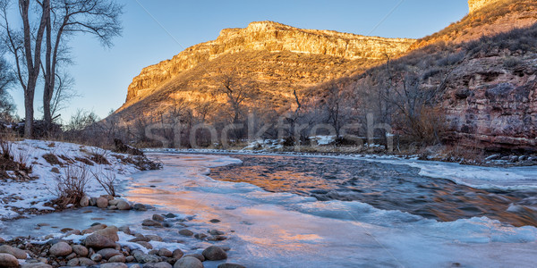 winter sunset over Poudre River Stock photo © PixelsAway