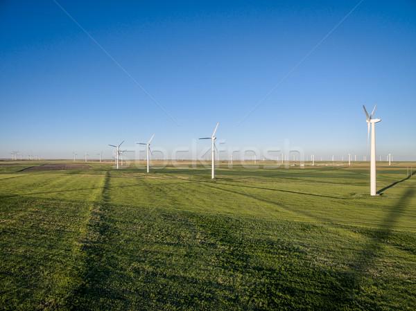 windmill farm at Pawnee Grassland Stock photo © PixelsAway