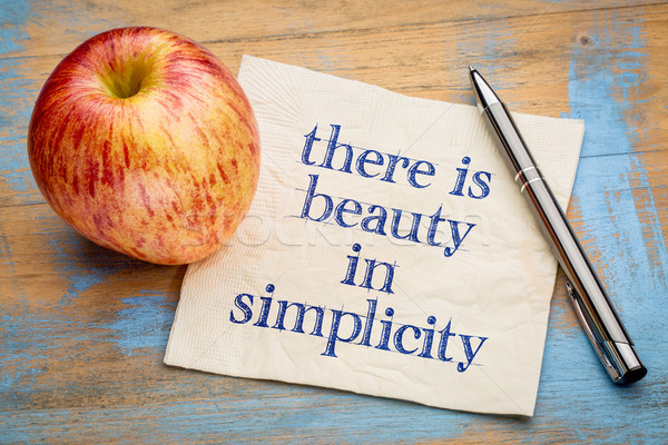 There is beauty in simplicity Stock photo © PixelsAway