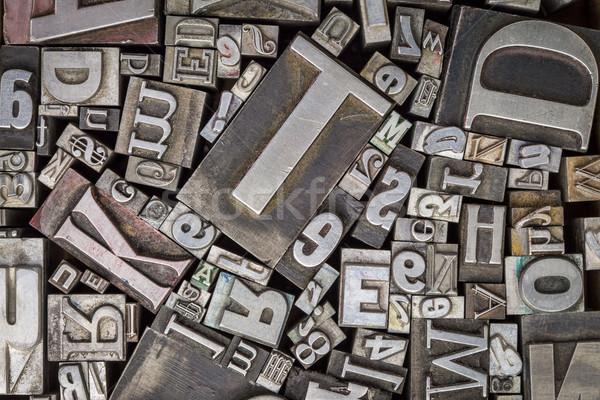 old letterpress metal type printing blocks Stock photo © PixelsAway