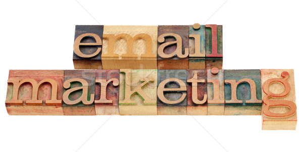 E-Mail Marketing isoliert Text Jahrgang Holz Stock foto © PixelsAway
