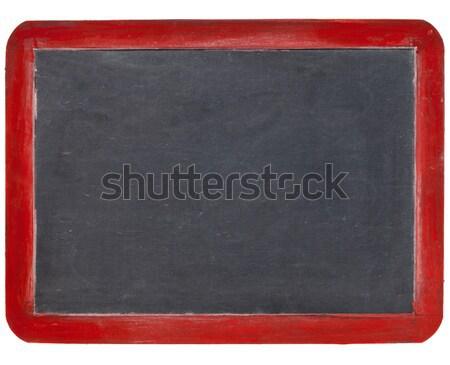 slate blackboard in red wood Stock photo © PixelsAway