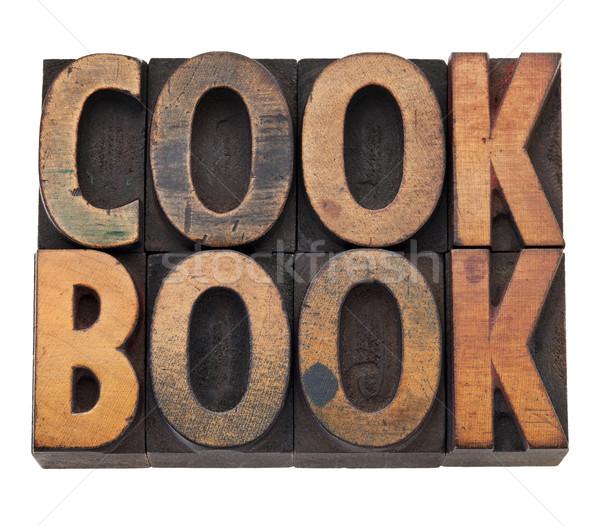 Libro de cocina tipo aislado palabra vintage Foto stock © PixelsAway