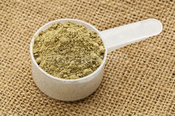 scoop of hemp protein powder Stock photo © PixelsAway