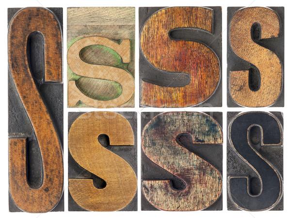 letter S in wood type blocks Stock photo © PixelsAway