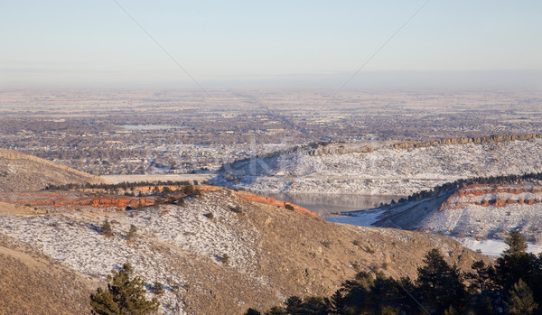 hazy winter view of Colorado plains and Fort Collins Stock photo © PixelsAway